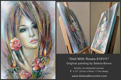 Doll With Roses 010111 Comp Art Print