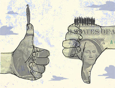 Digital Art - Dollar Hands by Steve Dininno