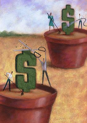 Dollar Topiary Art Print
