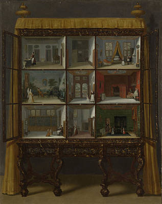 Doll House Drawing - Dolls' House Of Petronella Oortman, Jacob Appel by Litz Collection