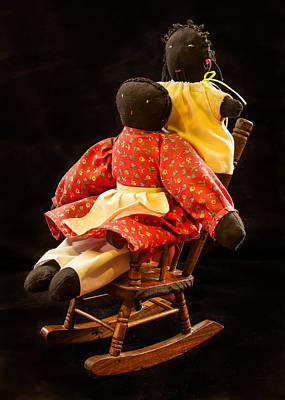 Rocking Chairs Photograph - Dolls by Jean Noren