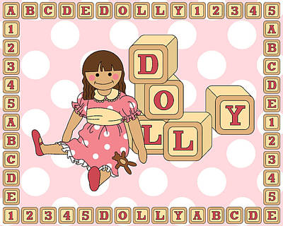 Digital Art - Dolly by Alison Stein