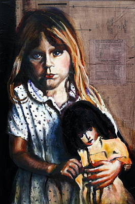 Wall Art - Painting - Dolly Dit It by Gaye White