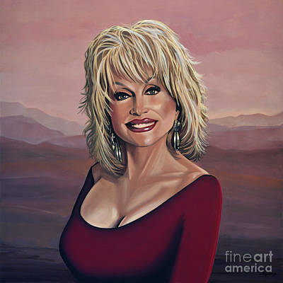 Joyful Painting - Dolly Parton 2 by Paul Meijering