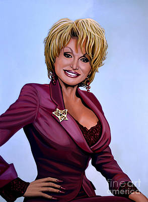 Joyful Painting - Dolly Parton by Paul Meijering