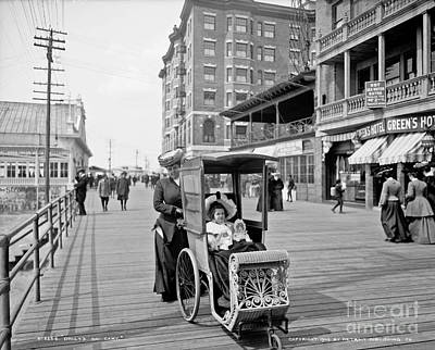 Dolly's Go-cart In Atlantic City Print by Celestial Images