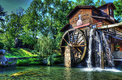 Photograph - Dollywood Gristmill by Mark Bowmer