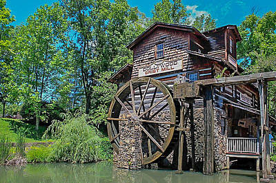Art Print featuring the photograph Dollywood  by Trace Kittrell