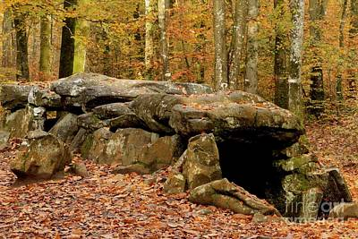 Megalith Photograph - Dolmen, France by John Wright