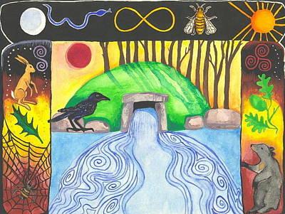 Dolmen Gateway Art Print by Cat Athena Louise