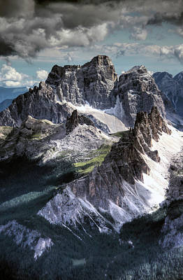 Dolomites Peaks View From Lagazuoi Art Print by Mariusz Kluzniak