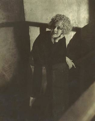 Dolores Costello Leaning On A Handrail Art Print