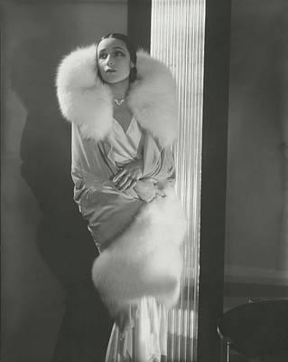 Del Rio Photograph - Dolores Del Rio Wearing An Augustabernard Wrap by Edward Steichen