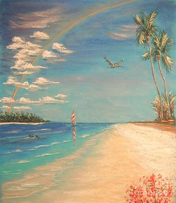 Painting - Dolphin Bay by The Beach  Dreamer