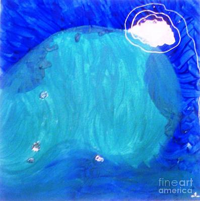Art Print featuring the painting Dolphin by Ilona Svetluska