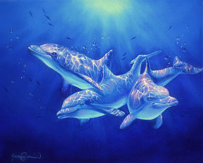 Wyland Painting - Dolphin Magic by James Corwin