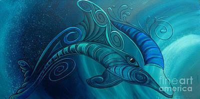 Dolphin Rua Art Print by Reina Cottier