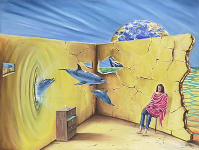 Gostanza Painting - Dolphin Travels by Teresa Gostanza