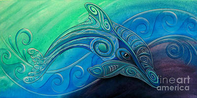 Painting - Dolphin Wha by Reina Cottier