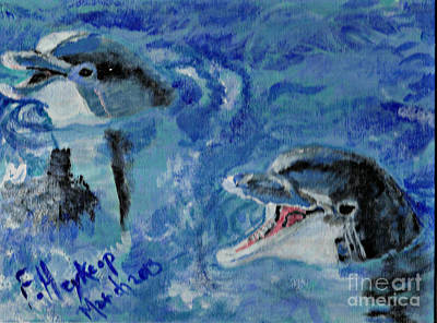 Painting - Dolphins by Francine Heykoop