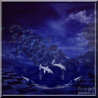Painting - Dolphins by Jessie Art