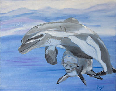 Sublime Dolphins Art Print