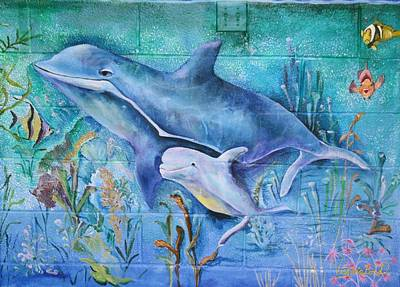 Painting - Dolphins by Virginia Bond