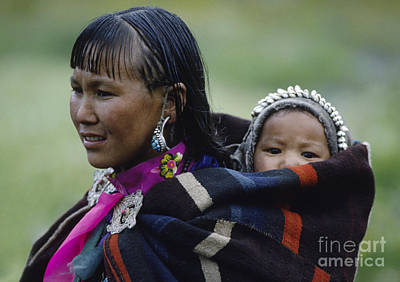Photograph - Dolpo Woman And Child - Do Tarap Valley - Nepal by Craig Lovell