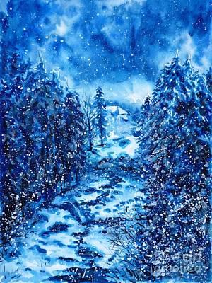 Painting - Dombay by Zaira Dzhaubaeva