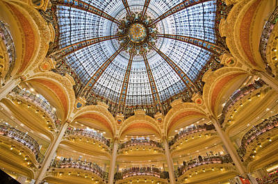 Photograph - Dome And Balconies Of Galeries by Izzet Keribar
