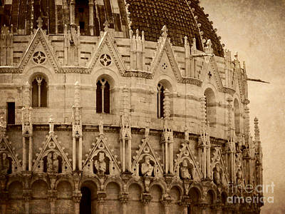 Photograph - Dome At Pisa Sepia by Valerie Reeves