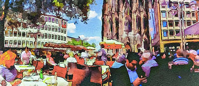 Dome Cafe In Cologne Art Print