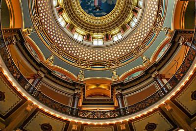 Dome Designs - Iowa Capitol Art Print
