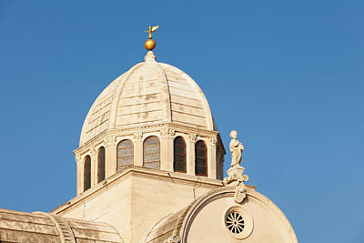 Croatia Photograph - Dome Of A Cathedral, Sibenik Cathedral by Panoramic Images