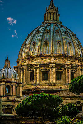 Print featuring the photograph Dome Of Michelangelo by Rob Tullis