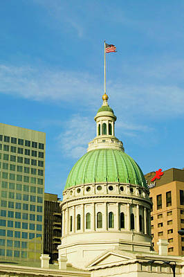 Historic Site Photograph - Dome Of Saint Louis Historical Old by Panoramic Images