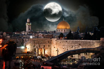 Photograph - Full Moon - Israel by Doc Braham