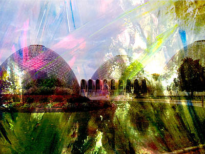 Digital Art - Domes And Abstract Paint by Anita Burgermeister