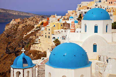 Photograph - Domes Of Santorini by Brian Jannsen