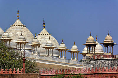 Adam Photograph - Domes On Mosque, Delhi, India by Adam Jones