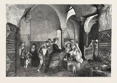Domestic Life In The East Visit Of European Ladies Art Print