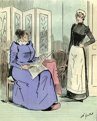 Domestic Servant 1891 Paris France Art Print by French School
