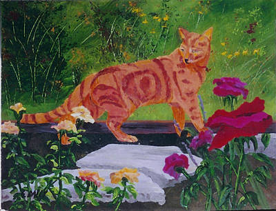 Domestic Tiger Art Print by Gail Daley
