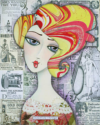 Domestically Challenged Art Print by Joann Loftus