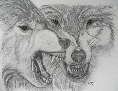 Drawing - Dominance by Cheryl McKeeth