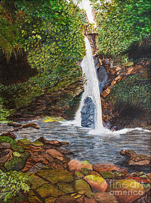 Antilles Painting - Dominica Rain Forest By Kevin Davis by Sheldon Kralstein
