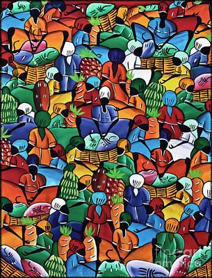 Painting - Dominican Women At Market by Walt Foegelle