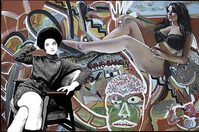Grafitti Mixed Media - 'domino Dancin' by Andy Waudby