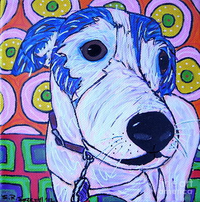 Domino Dog Art Print by Susan Sorrell