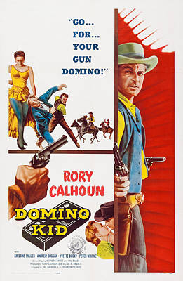 Kristine Photograph - Domino Kid, Us Poster, Rory Calhoun by Everett